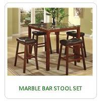 MARBLE BAR STOOL SET
